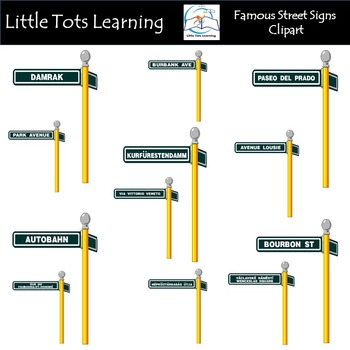 Famous Street Signs Clip Art