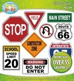 Street Signs Clipart {Zip-A-Dee-Doo-Dah Designs}