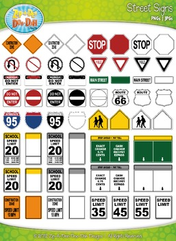 Street Signs Clipart {Zip-A-Dee-Doo-Dah Designs}