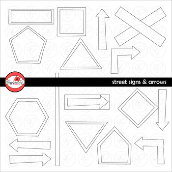 Street Signs and Arrows Clipart by Poppydreamz