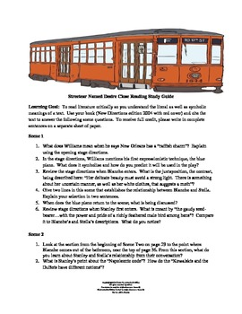 Streetcar Named Desire Close Reading Study Guide CC Aligned