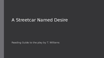 Streetcar Named Desire Reading Guide