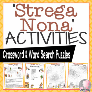 Strega Nona Activities dePaola Crossword Puzzles and Word Searches