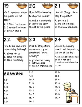 Strega Nona Comprehension Game