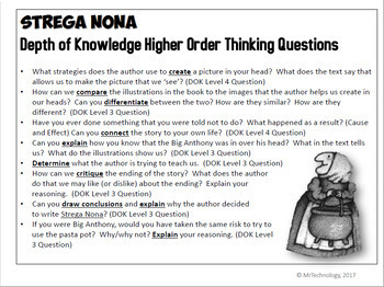 Strega Nona Differentiated Interactive Notebook Reading Lessons & Activities