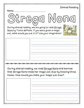Strega Nona - Magic Pot Writing