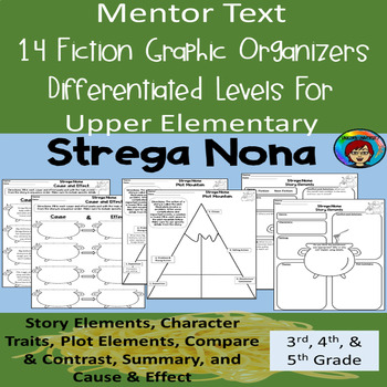 Strega Nona Mentor Text Fiction Graphic Organizers for Reading Comprehension