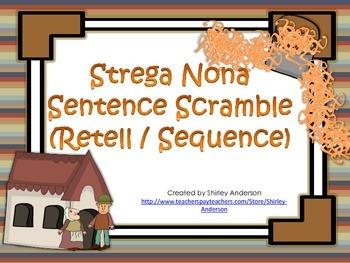 Strega Nona Sentence Scramble