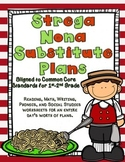 Strega Nona Substitute Plans- 1st and 2nd Grade