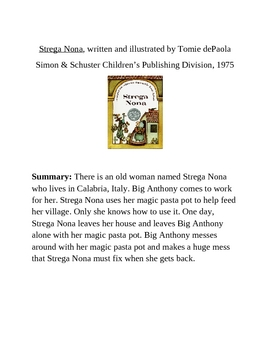 Strega Nona Technology Project