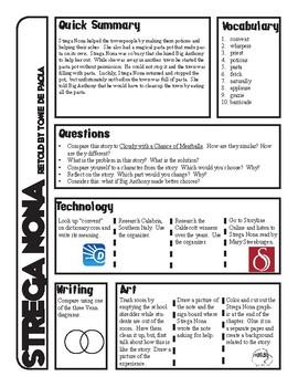 Strega Nona 18 Page Pack