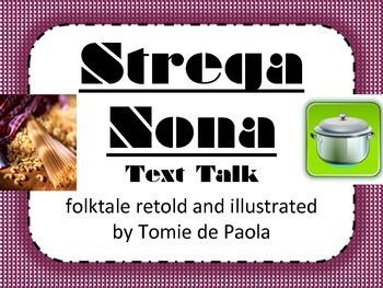 Strega Nona Text Talk Supplemental Materials