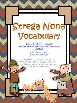 Strega Nona Vocabulary