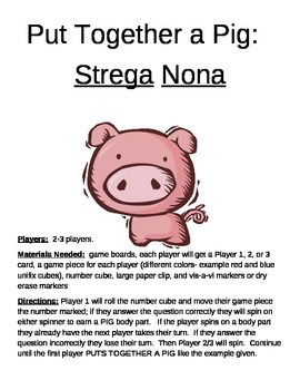 Put Together a Pig-  Strega Nona by Tomie dePaola