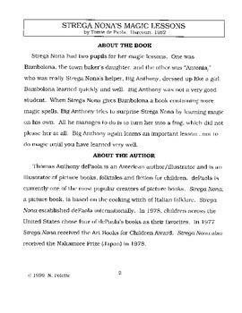 Strega Nona's Magic Lessons Literature Guide