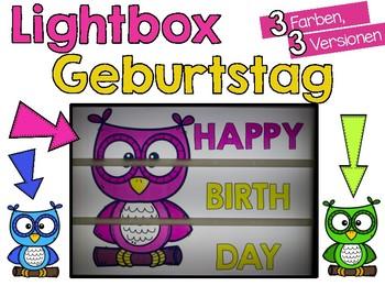 Streifen für die Lightbox *Geburtstags-Eulen*