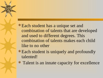 Strength Based Educaton for Gifted and Talented Students