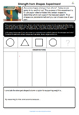Strength from Shapes Experiment Worksheet (STEM)