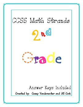 Common Core Math: Repeated Practice in 2nd Grade Math Standards with Key
