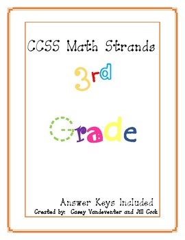 Common Core Math: Repeated Practice in 3rd Grade Math Standards with Keys
