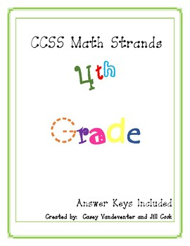 Common Core Math: Repeated Practice in 4th Grade Math Standards with Key