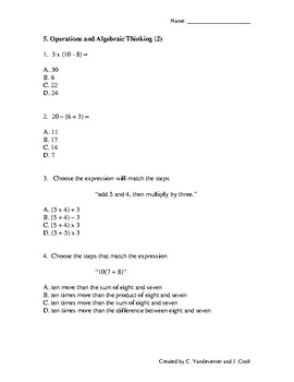 Common Core Math: Repeated Practice in 5th Grade Math Standards