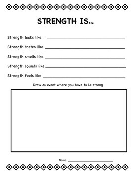 Strength is...Invisible Ideas critical and creative thinking and writing prompts