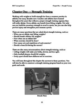 Strength training and the teenage athlete (40 pages!)