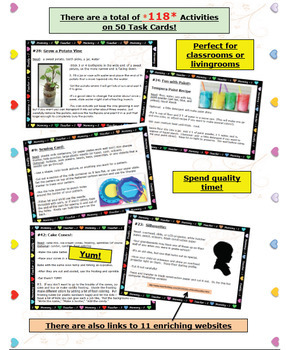Arts & Crafts Task Cards: Projects for Classroom, Homeschool, + Parents