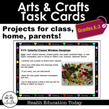 Arts & Crafts Task Cards: Projects for Classroom, Homescho