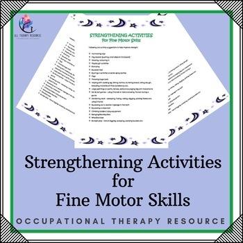 Strengtherning Activities for Fine Motor Skills