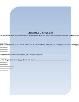 Strengths and Struggles Worksheet: PALs