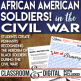 African American or Black Soldiers in the Civil War Students Create Pennants