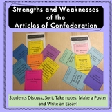 Strengths and Weaknesses of the Articles of Confederation Sorting Activity