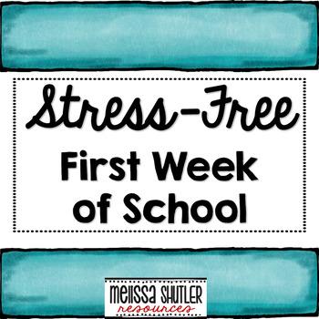 First Week of School Organization with Activities and Teacher Binder