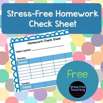 Stress-Free Homework Check Sheet