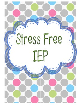Stress Free IEP Bundle