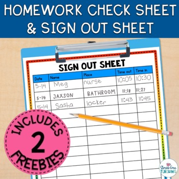 Stress-Free Classroom Sign Out Sheet