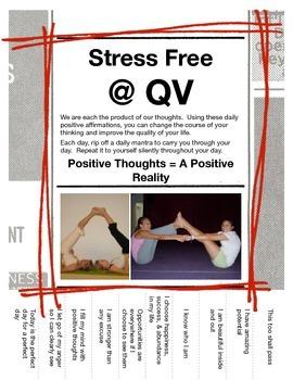 Stress Free/Mindfulness Student Affirmative Mantras