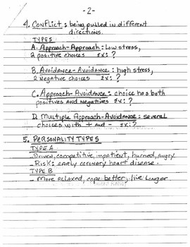Stress & Health Lecture Notes
