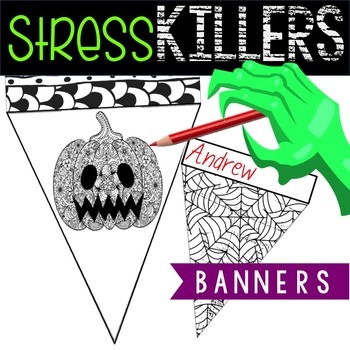 No Prep Halloween Activity - Anxiety Busting Banners