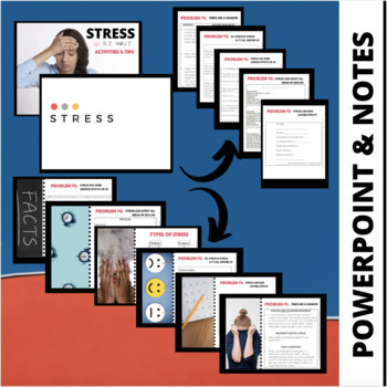 Stress Lesson: Engaging Powerpoint, Notes and Activities- Mental Health
