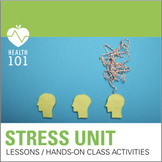 Stress Lesson: Engaging Powerpoint, Notes and Activities-