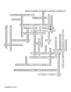 Stress, Lifestyle and Health Vocabulary Crossword For Psychology