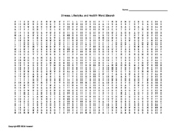 Stress, Lifestyle, and Health Vocabulary Word Search for Psychology