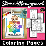 Stress Anxiety Calming Sloth Coloring