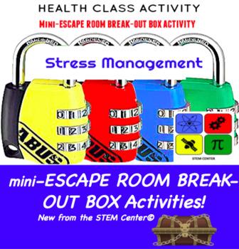 Stress Management Escape Room - Break Out Box