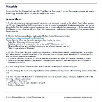 Stress Management Guidance Lesson