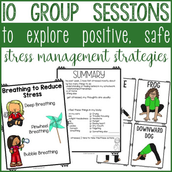 Stress Management Activities Group Counseling Program Interactive Notebook