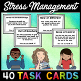 Stress Management Anxiety Task Cards